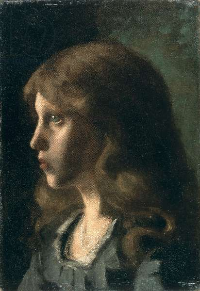 Profile of a Girl, c.1880 (oil on canvas)
