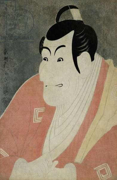 Scene from Kabuki Theatre, Ichikawa Ebizo Performing Takemura Sadanoshin, 1794