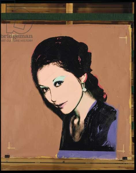 Woman, 1975 (silkscreen & acrylic on canvas)