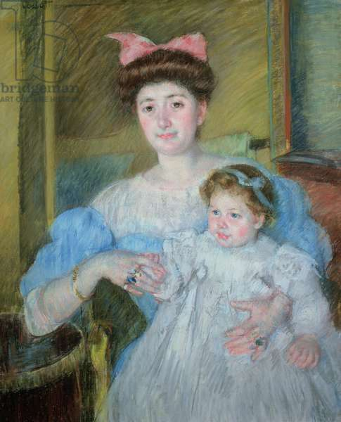 The Countess Morel d'Arleux and her Son, c.1906 (pastel on canvas)