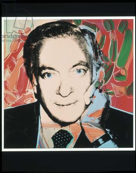 Portrait of Jules Brassner, 1979 (silkscreen & acrylic on canvas)