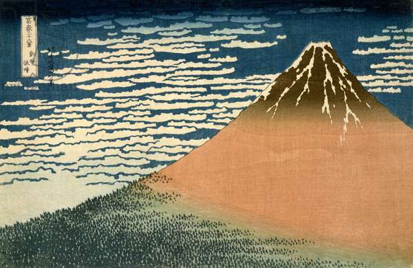 South Wind, Clear Weather, from 'Thirty-Six Views of Mount Fuji', c.1831 (colour woodblock print)