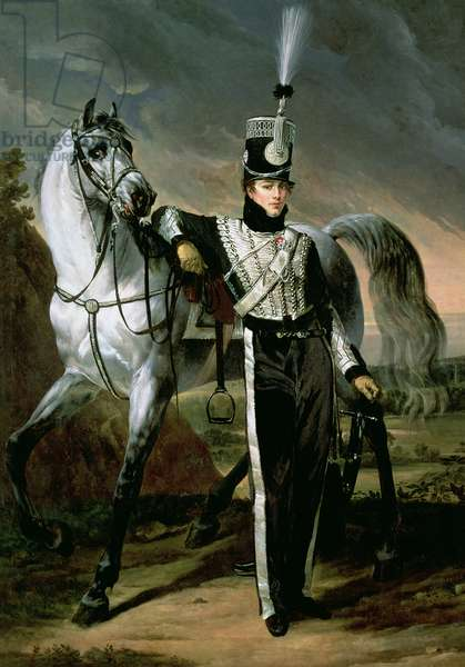 Portrait of Louis-Eugene d'Etchegoyen, a Cavalry Officer, 1810 (oil on canvas)