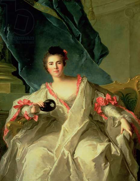 Portrait of la Marquise de la Ferte-Imbault, 1740 (oil on canvas)