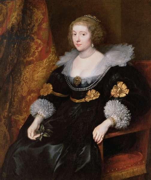Portrait of Amalia von Solms-Braunfels (1602-75) 1629 (oil on canvas)