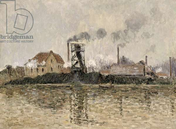 Factory on the Bank of the Oise, 1908 (oil on canvas)