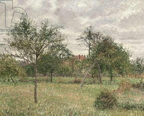 Autumn Morning, Cloudy, Eragny, 1900 (oil on canvas)