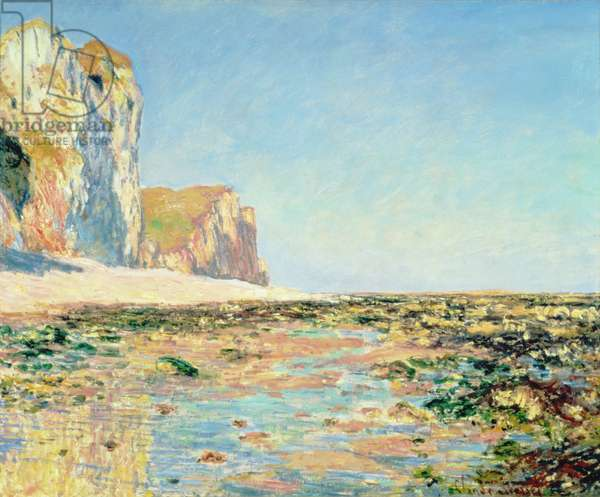 Seashore and Cliffs of Pourville in the Morning, 1882 (oil on canvas)