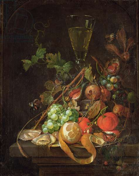 Still life  with Fruit, c.1665 (oil on canvas)