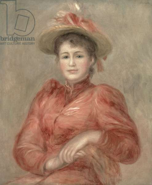 Young Woman in Red Dress, c.1892 (oil on canvas)