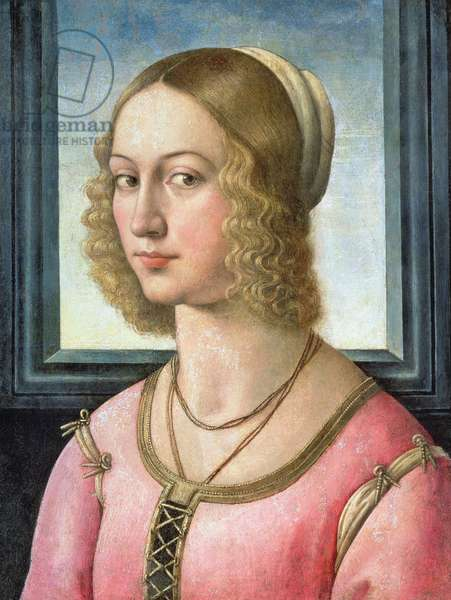 Portrait of Giovanna Tornabuoni, c.1485-88 (tempera on panel)