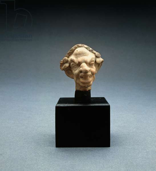 Grotesque head of a woman, 100 BC-100 AD (terracotta) (see also 213319)