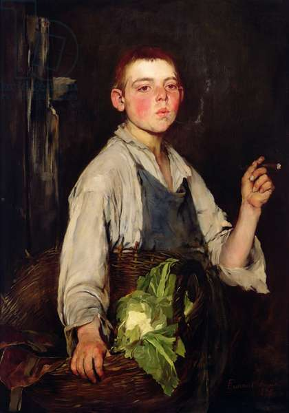 The Cobbler's Apprentice, 1877 (oil on canvas)