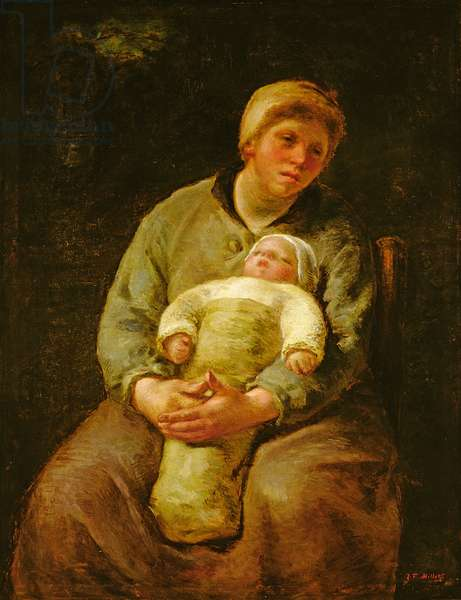 Maternite: A Young Mother Cradling her Baby, 1870-73 (oil on canvas)