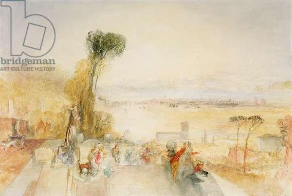Lake of Thun, c.1845-51 (w/c on paper)