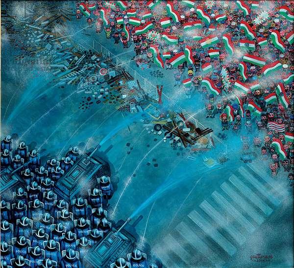 Barricade, 2006 (oil on canvas)