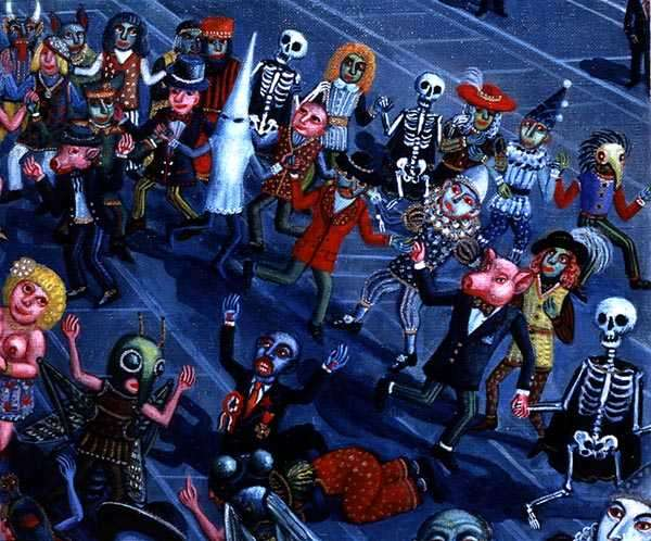 Golden Age of The Dance of Death at the Millennium's End, 1996 (see also 137223) (detail)
