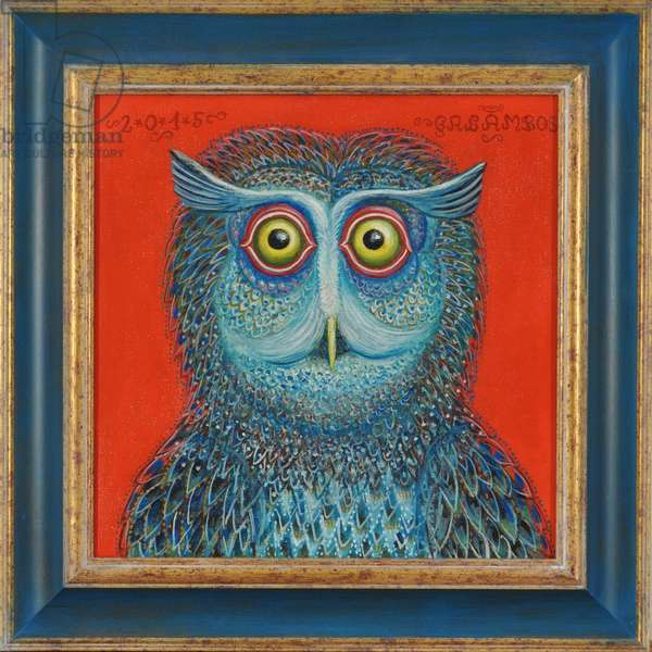 Owl, 2015 (oil on canvas)