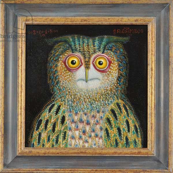 Owl, 2015 (oil on canvas)