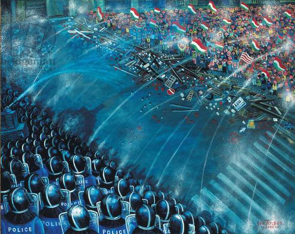 Barricade, 2006 (oil on canvas)