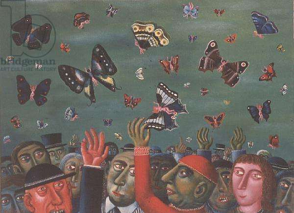 The Butterfly Catchers, 1976 (oil on canvas)