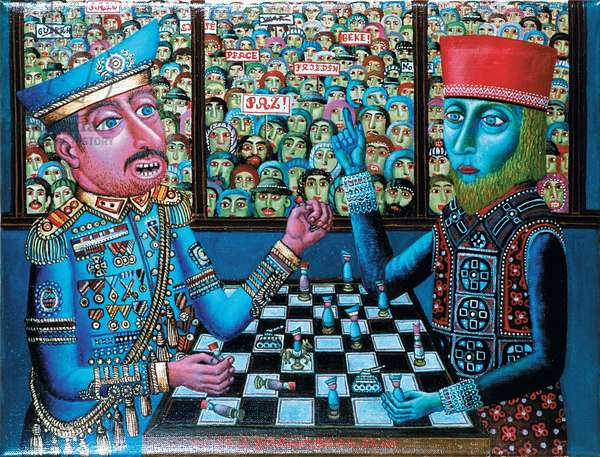 The Big Game, 1983 (oil on canvas)