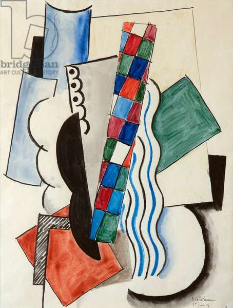 Composition, 1918 (w/c on paper)