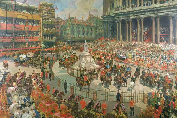 Queen Victoria's Diamond Jubilee, 1897 (oil on canvas)