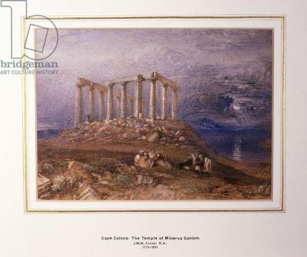 The Temple of Minerva at Sunium, Cape Colonna (w/c on paper)