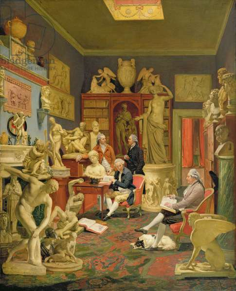 Charles Townley and his Friends in the Towneley Gallery, 33 Park Street, Westminster, 1781-83 (oil on canvas)