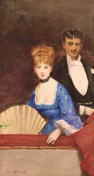 Lady with Fan (w/c on paper)