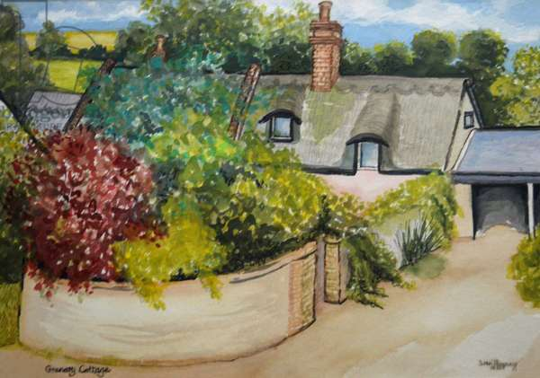 Granary Cottage, 2009 (watercolour)