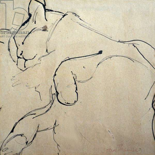 Cat, 'Mouser', 1980,(pen and ink)