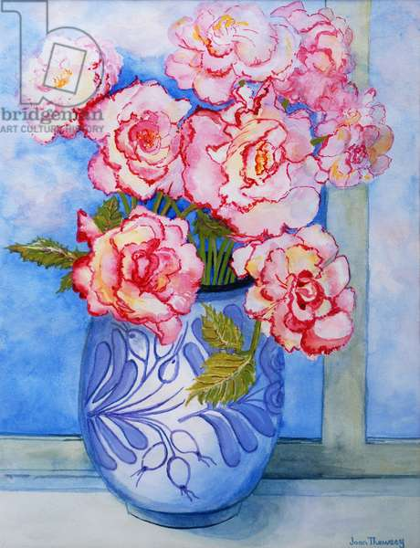 Pink Roses against the Sky 2004 (w/c on paper)