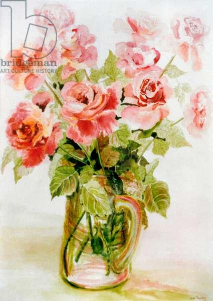 Pink Roses, (watercolour)