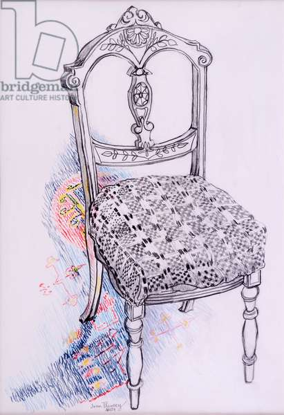 Portrait of My Chair, 2000,pencil