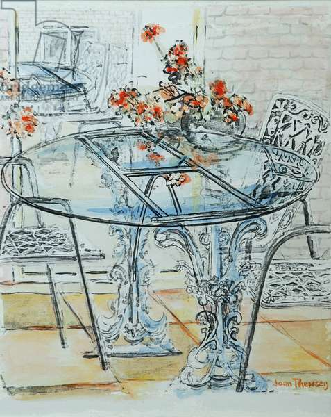Patio Garden Pale,2010,ink with water colour