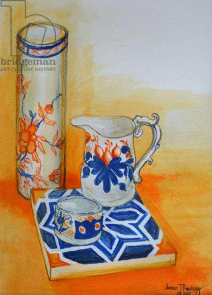 Chinese Bowl and Tile,1999, (watercolour)