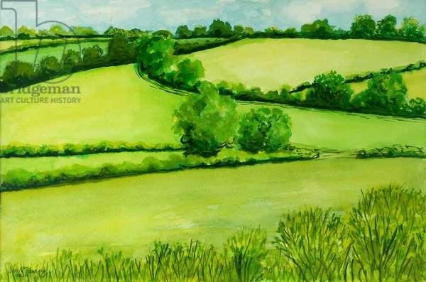 Summer Landscape, 2010, water colour