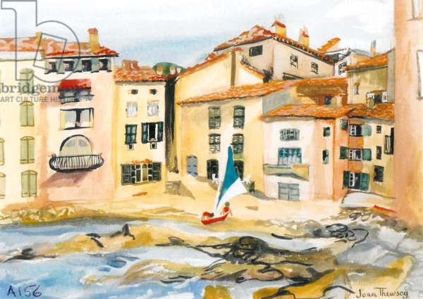 Saint-Tropez, the Bay, (watercolour)