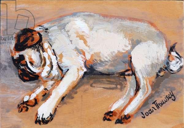 Hogarth Sleeping, 2005, (gouache)