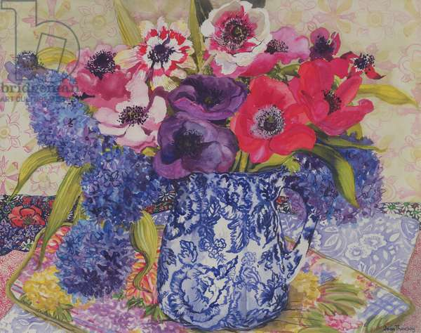 Anemones in an Antique Jug (w/c)