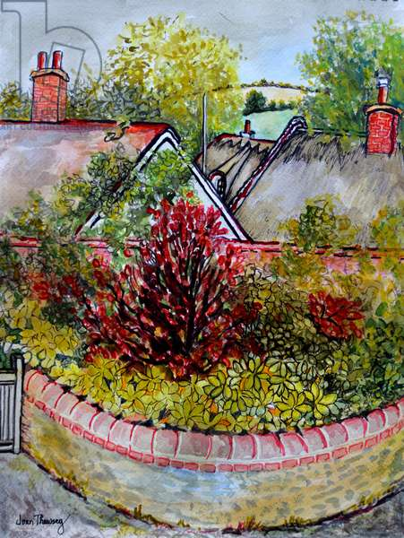 Across the Rooftops,from Cynthia's Studio, 2010,(watercolour)