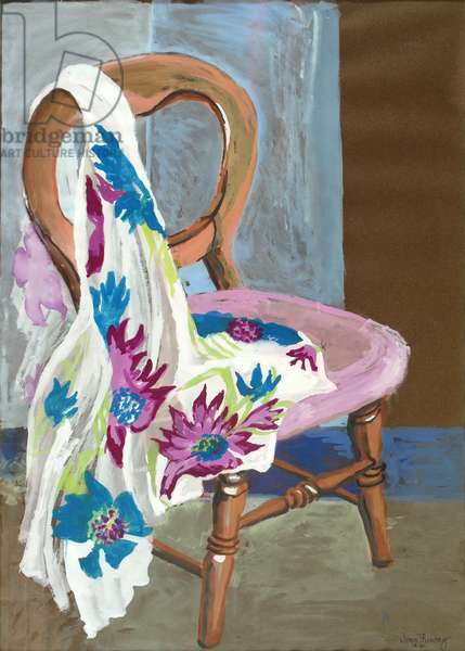 Chair and Patterned Fabric, 2000,(gouache)