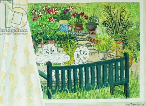 Cynthia's Garden, 2011, gouache