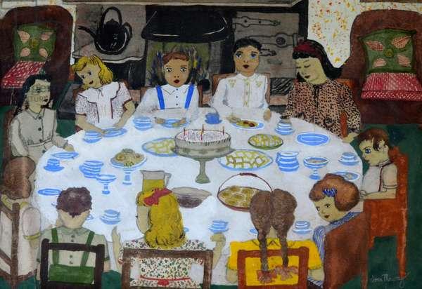 Children's Party,1947 (gouache)