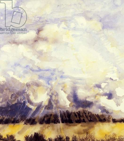 March Sky,1989, (water colour on handmade paper)