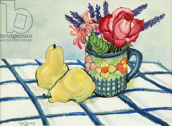 Red Rose and Two Pears, 2008, (watercolour)