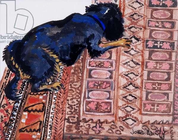 Saskia on a Patterned Carpet, 2000,(watercolour)