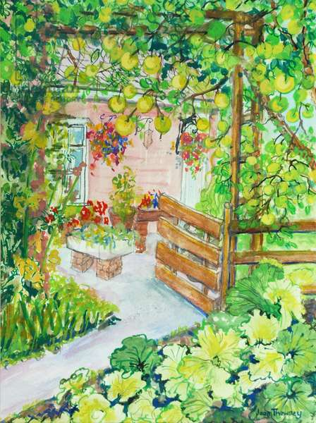 Rhubarb and Apples, Red Cottage Studios Suffolk, 2011, (watercolour)